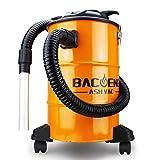 BACOENG Aschesauger mit zweistufigem Filtersystem, Kaminsauger 20L mit 1.5m Metallischer Verlängerungsschlauch, 1200W