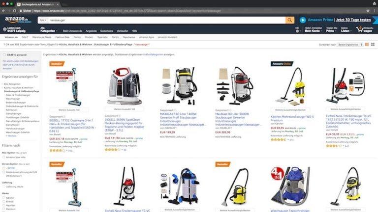 Nasssauger bei Amazon kaufen