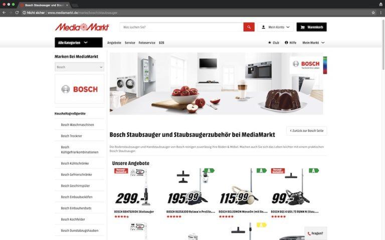 Bosch Staubsauger bei Media Markt kaufen