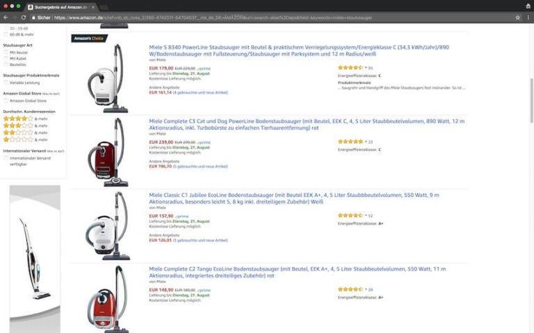Miele Staubsauger bei Amazon kaufen